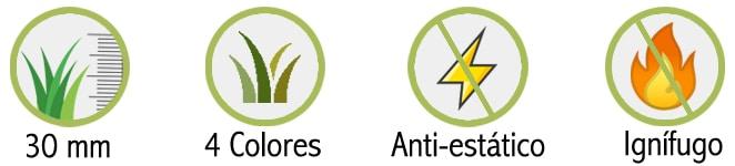 Características Césped Artificial