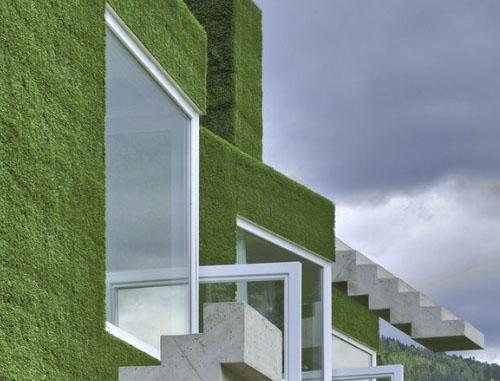 Césped artificial para fachadas