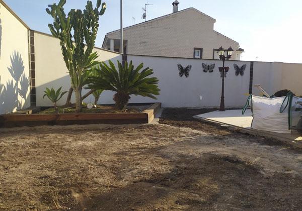 preparacion de terreno de jardin
